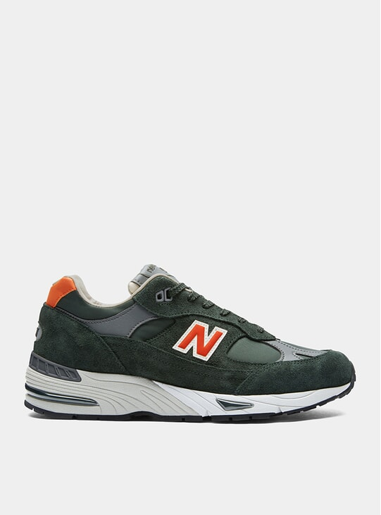 Forest Green / Orange 991 Sneakers