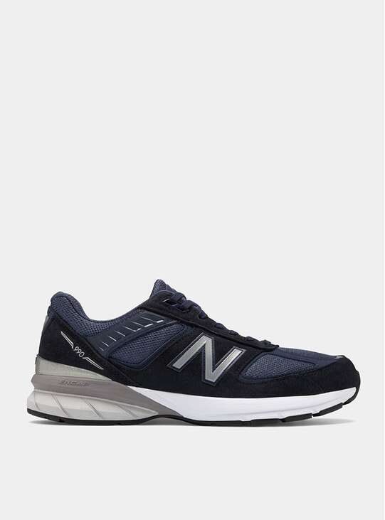Navy / Silver 990v5 Sneakers
