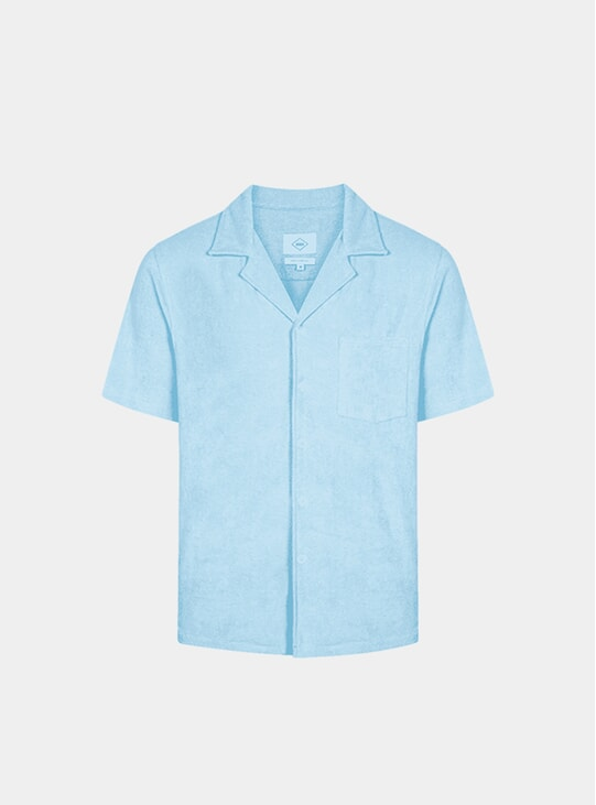 Crystal Blue Bowling Terry Shirt