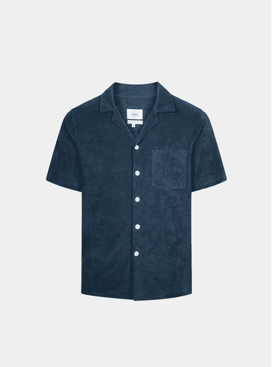 Navy Terry Bowling SS Shirt