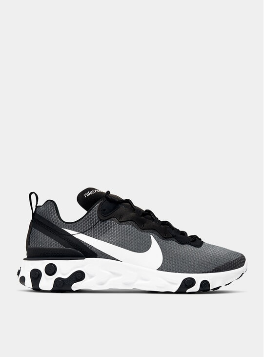 Black / White React Element 55 SE Sneakers