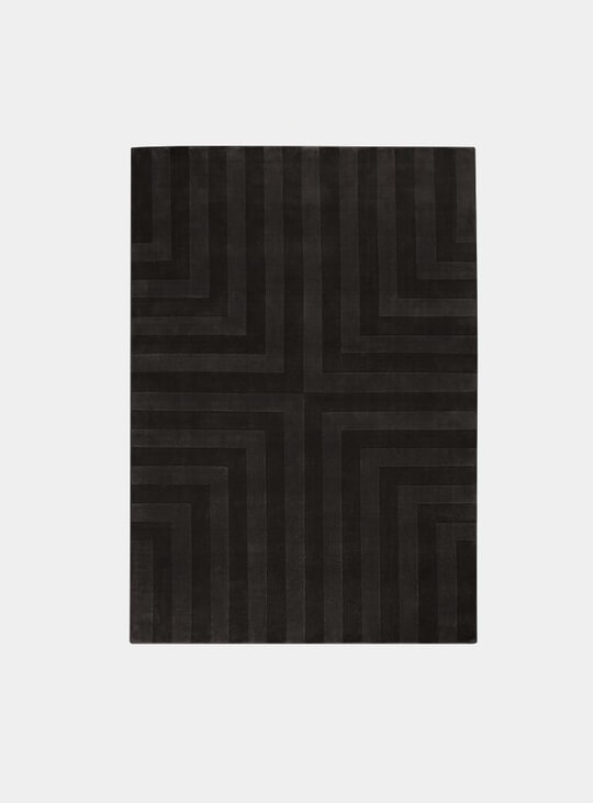 Black Coffee Lux 3 Rug
