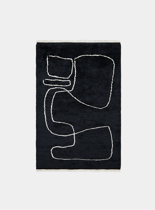 Black Connection Rug
