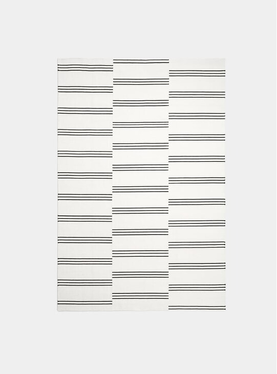 Cream / Black Stripes Rug