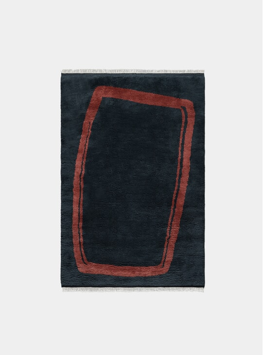 Dark Blue Simple Object 11 Rug