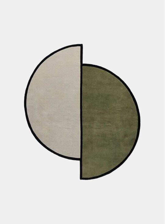 Oatmeal / Green Norr Mälarstrand 03 Rug