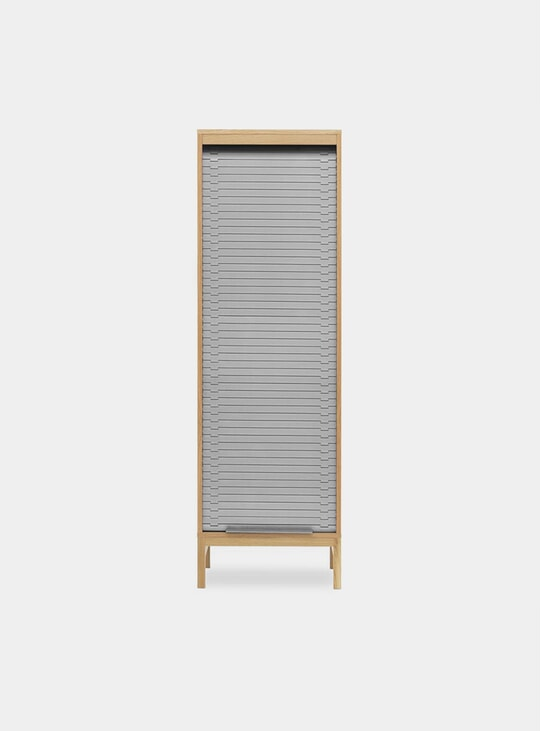 Grey High Jalousi Cabinet