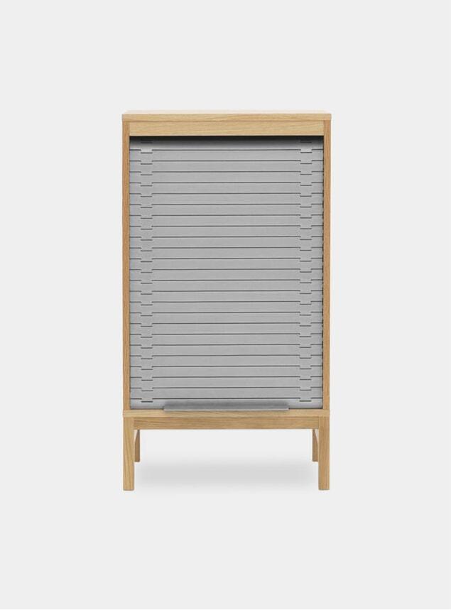 Grey Jalousi Low Cabinet