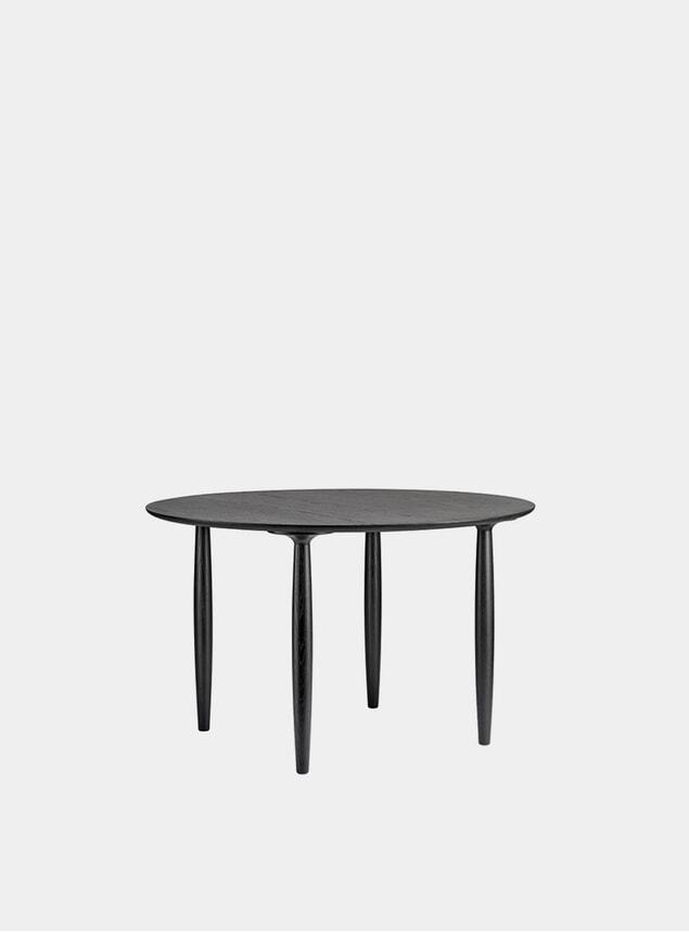 Black Oku Round Dining Table