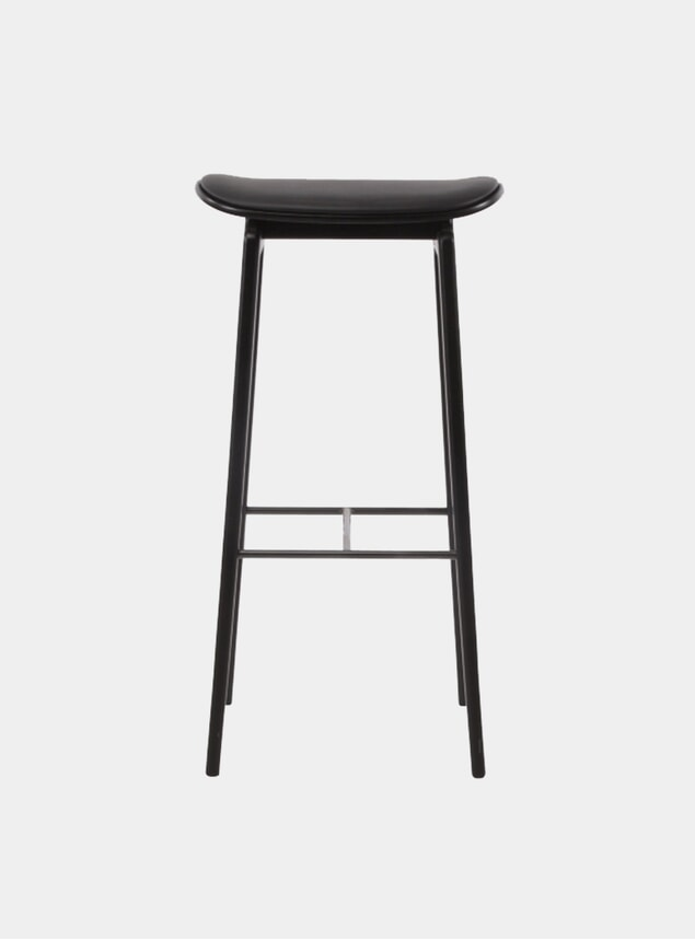 Black / Premium Leather NY11 Bar Chair