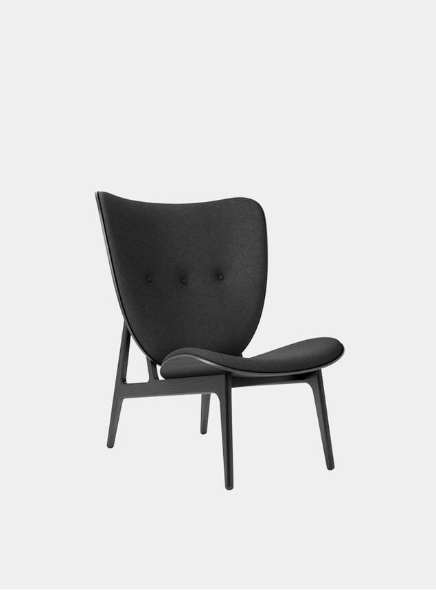 Black Wool Elephant Chair
