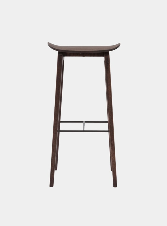 Dark Stained NY11 Bar Chair