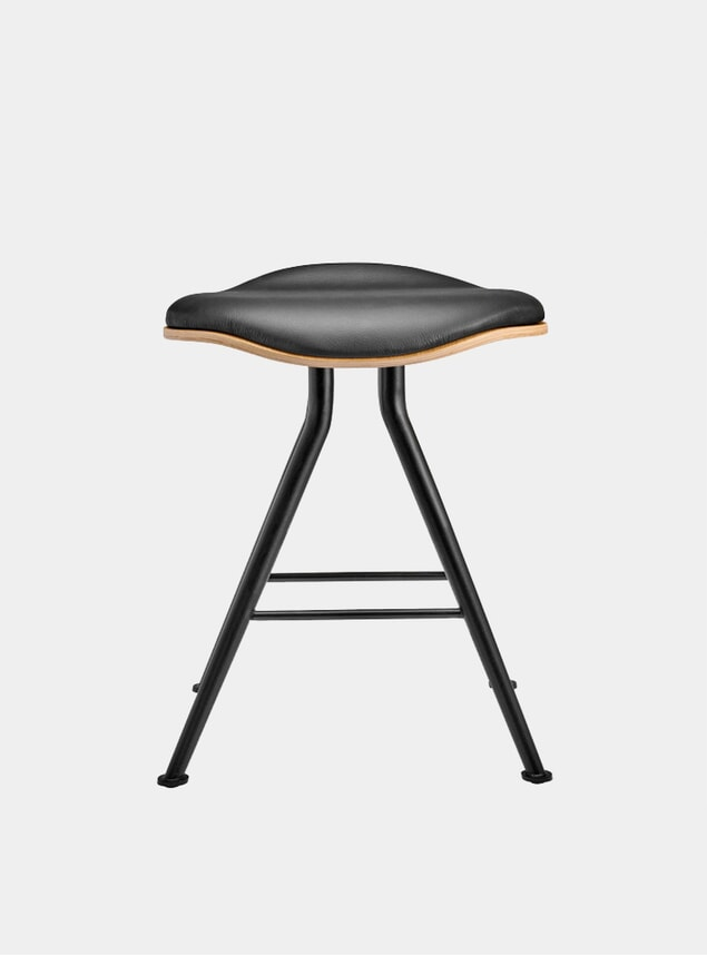 Natural Oak / Premium Leather Barfly Stool