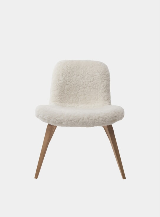 Natural Sheepskin Goose Lounge Chair