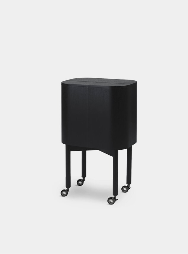 Black Loud Drinks Cabinet