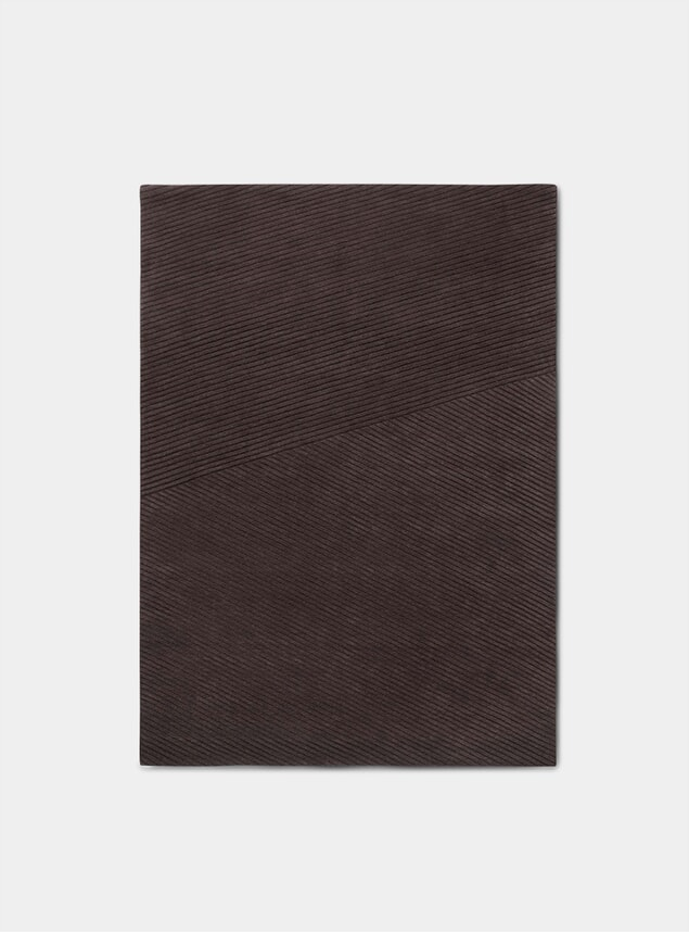 Dark Brown Large Row Rug
