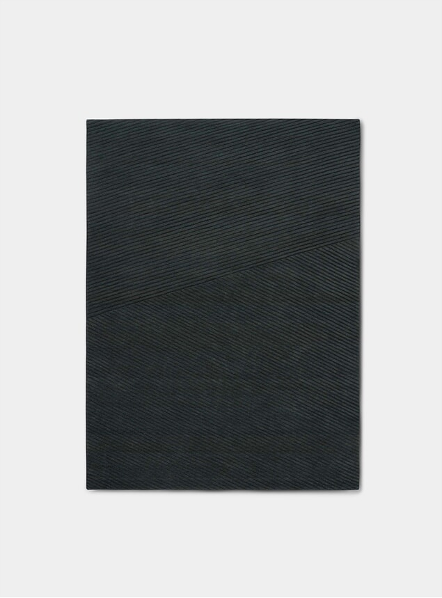 Dark Green Row Medium Rug