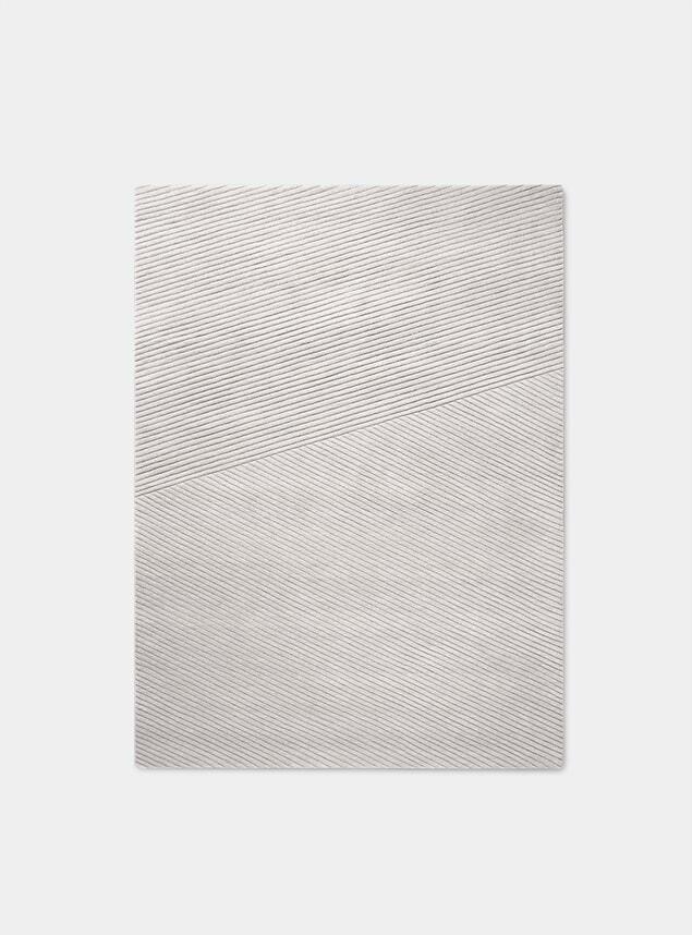 Light Grey Row Medium Rug