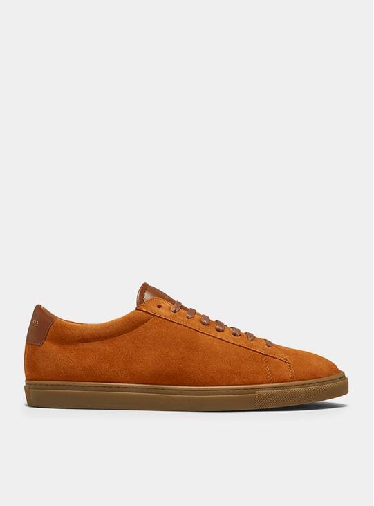 Camel Low 1 Suede Sneakers
