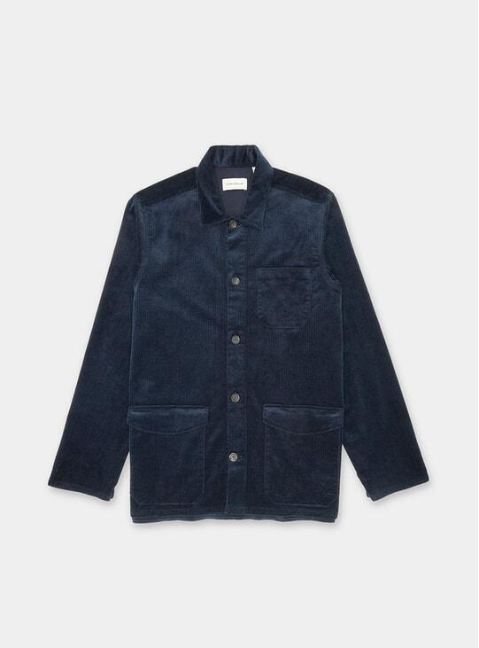 Navy Penton Cord Hockney Shirt