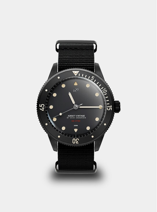 All Black / Black Vintage 1926 At'sea Watch