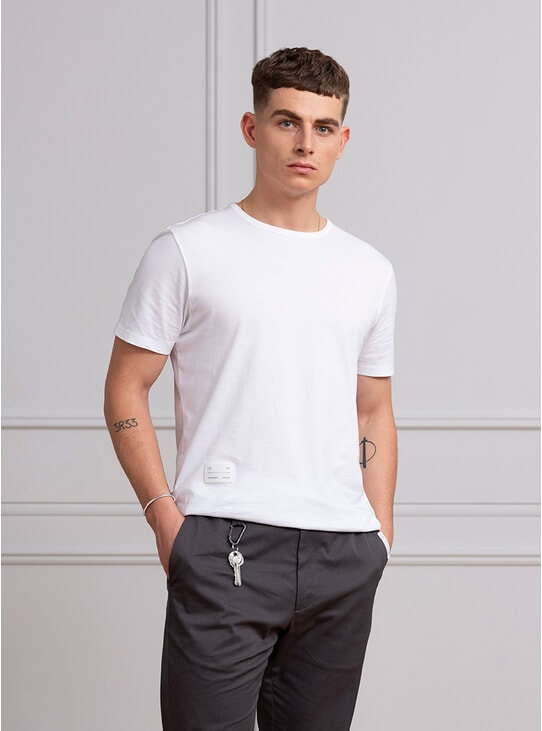 White Tailored T Shirt