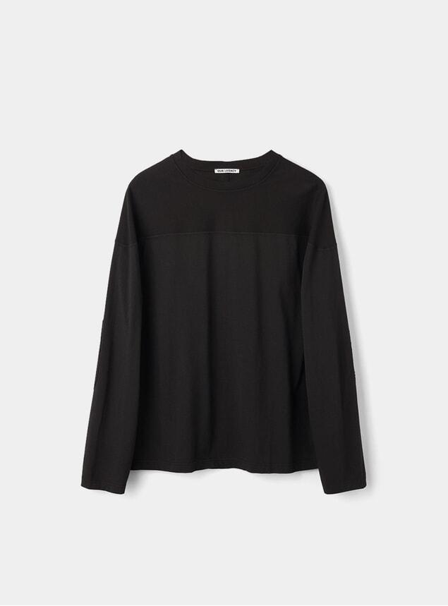 Black Clean Moto Sweatshirt