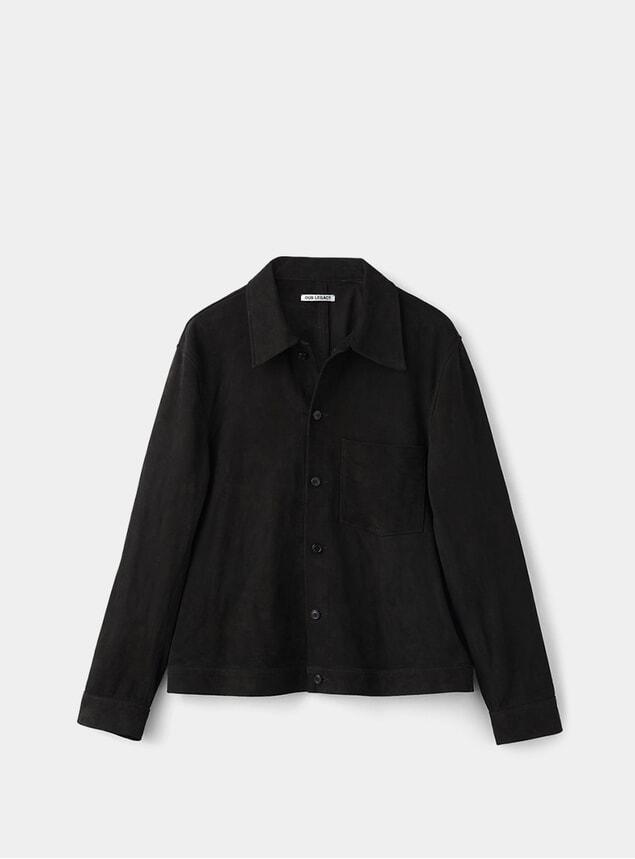 Black Suede Reincarnation Suede Shirt