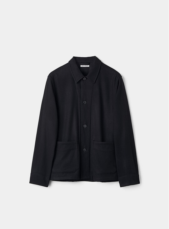 Black Wool Archive Box Jacket