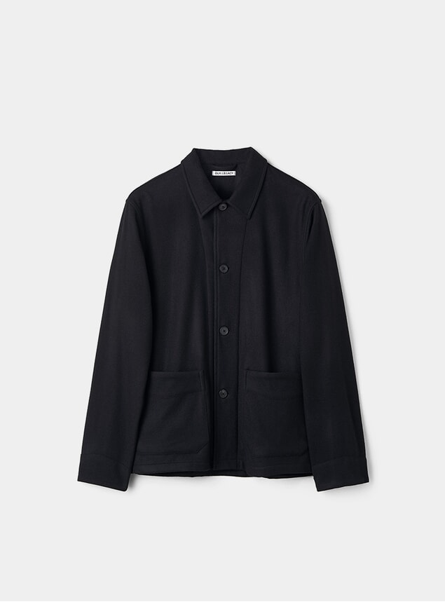 Black Wool Archive Box Jacket