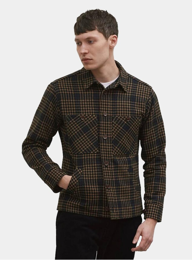 Black Tan Checkmate Flannel Workshirt