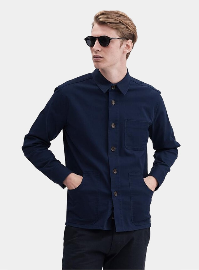Navy Worker Twill Outershirt