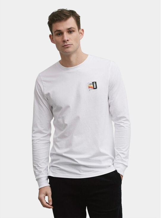 White VHS Long Sleeve T Shirt
