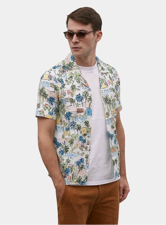 Miami Palm Cuban Short Sleeve Shirt
