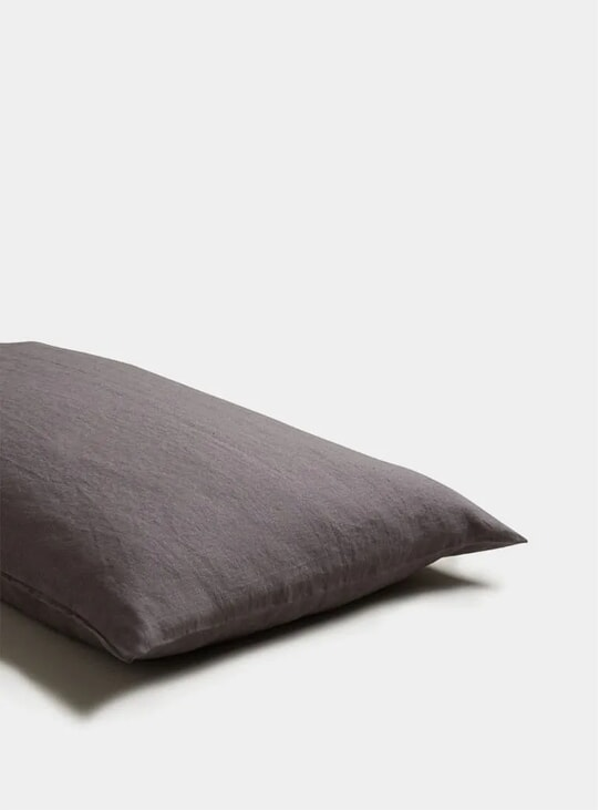 Charcoal Grey Linen Pillowcase Set of 2