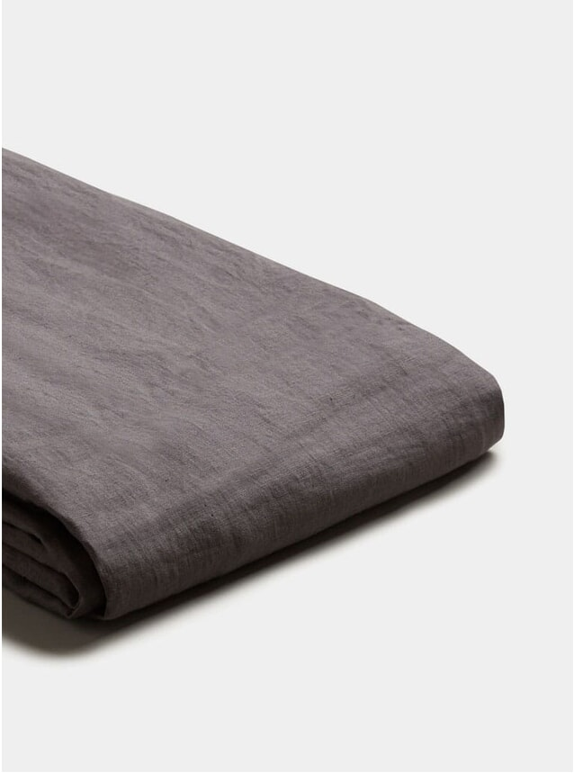 Charcoal Grey Linen Duvet Cover