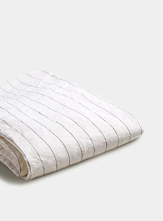 Luna Stripe Linen Double Duvet Cover