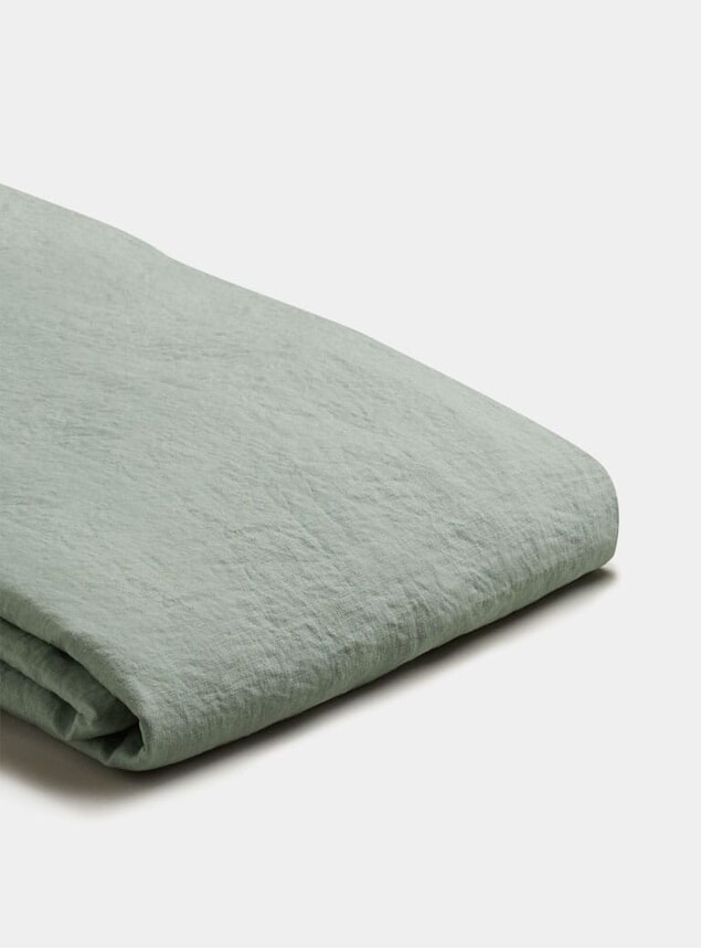 Sage Green Linen King Size Duvet Cover
