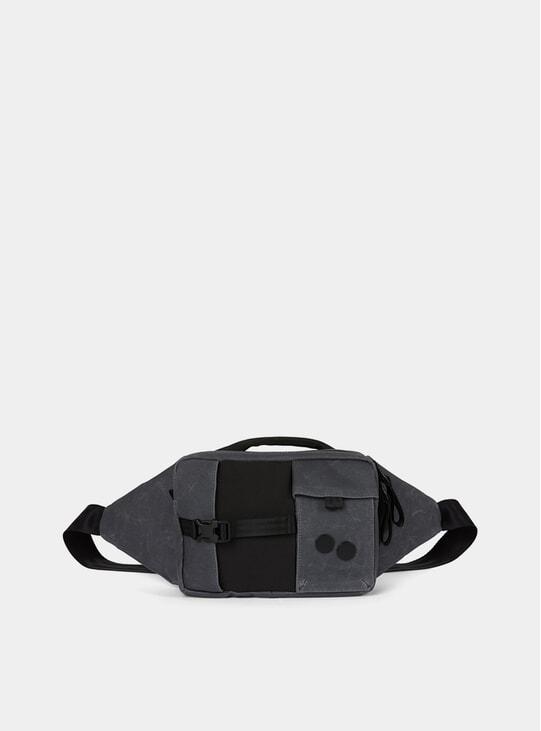 Coated Anthracite Tetrik Side Bag