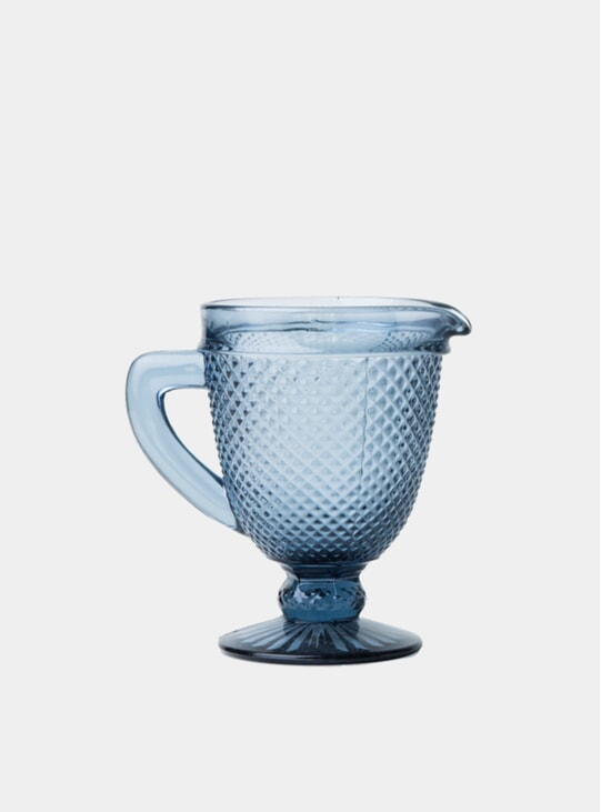 Grey Glass Pitcher
