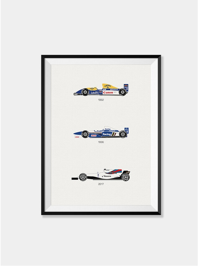 A Race to the Finish - Williams F1 Print
