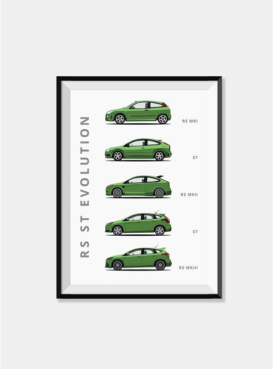 Ford Focus Car Print