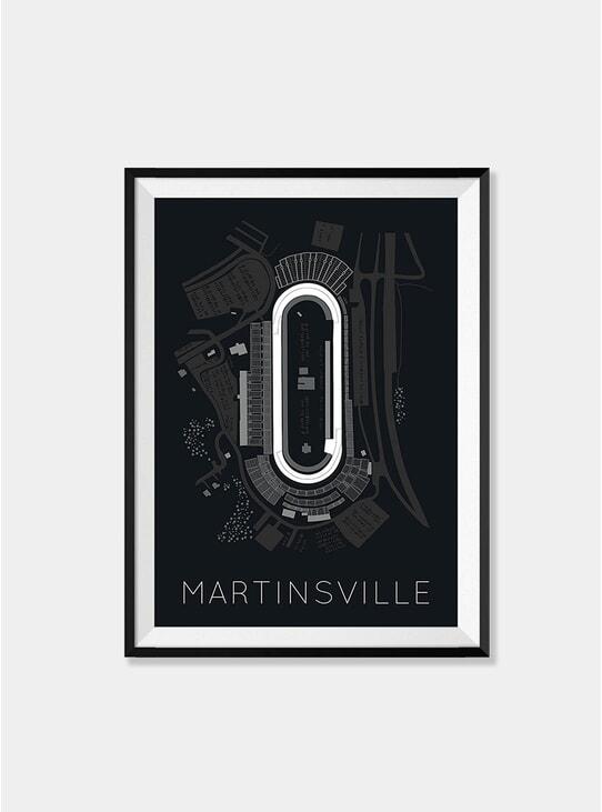 Martinsville Speedway Race Track Print