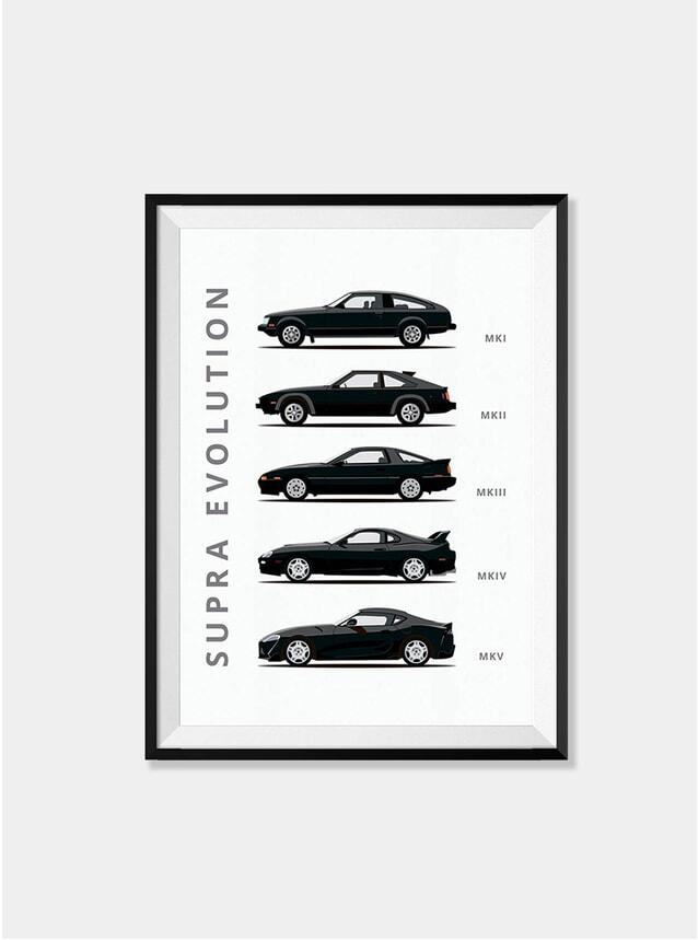 Toyota Supra Car Print