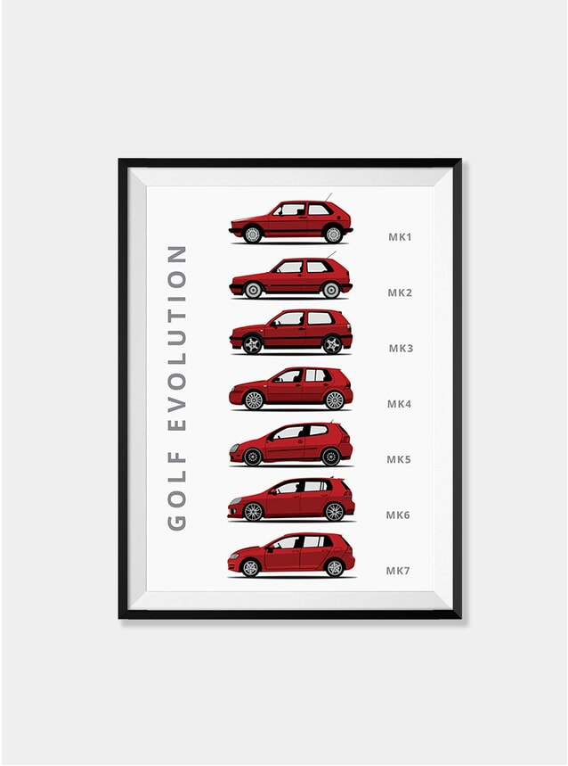 Volkswagen Golf Car Print