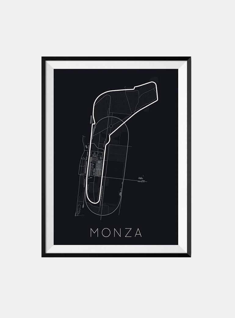 wall or free standing track art Monza F1 GP circuit replica
