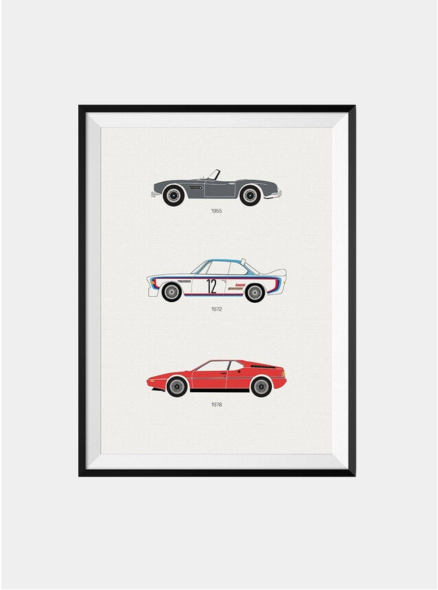 The Iconic BMW Car Print