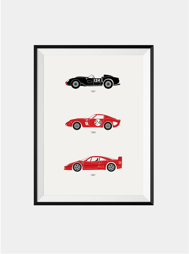 The Iconic Ferrari Racing Print