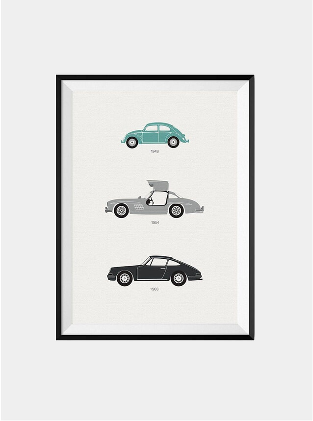 The Iconic German Car Print