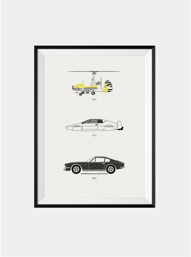 The Iconic James Bond Car Print